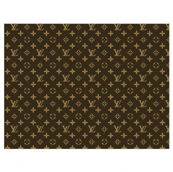 Brown Louis Vuitton Patterned Icing Sheet